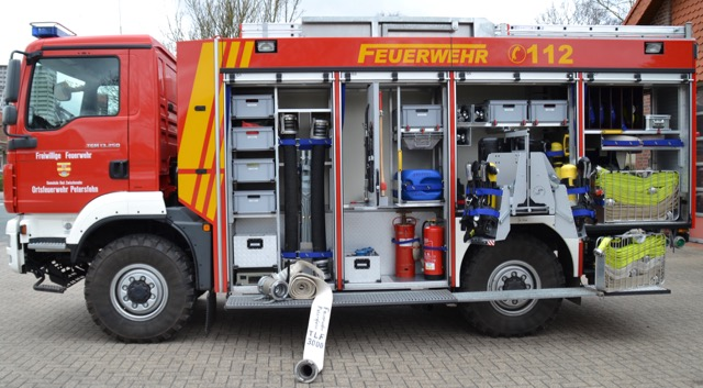 Geräteraum 3 Atemschutzgräte Standrohr Schlauch A/B/C Handwerkzeug Saugschläuche Schlauchtragekörbe